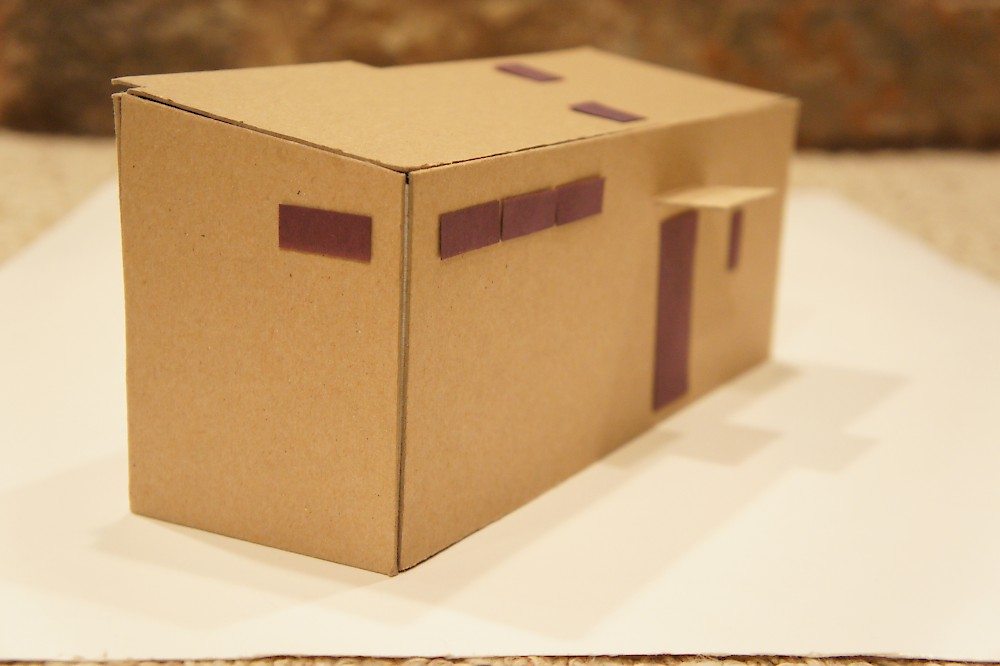 Model cardboard house