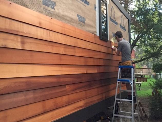 Doors And Trim Complete Cedar Siding Started Processhouse